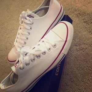 White converse size 9.5 men's